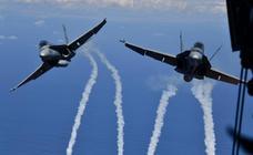 Maniobras militares en el cielo de Canarias