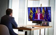 Pere Aragonès reclama un referéndum ante la presidenta de la Comisión Europea