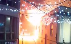 Incendio en un local en el casco de Valverde
