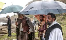 El rodaje de Elcano en una de las playas de Getxo, en imágenes