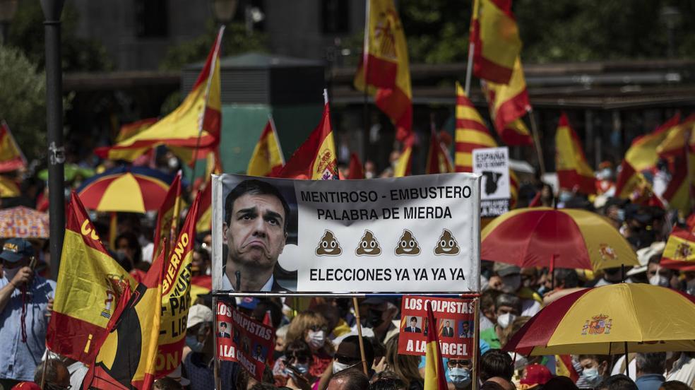 Miles de españoles muestran su rechazo a los indultos