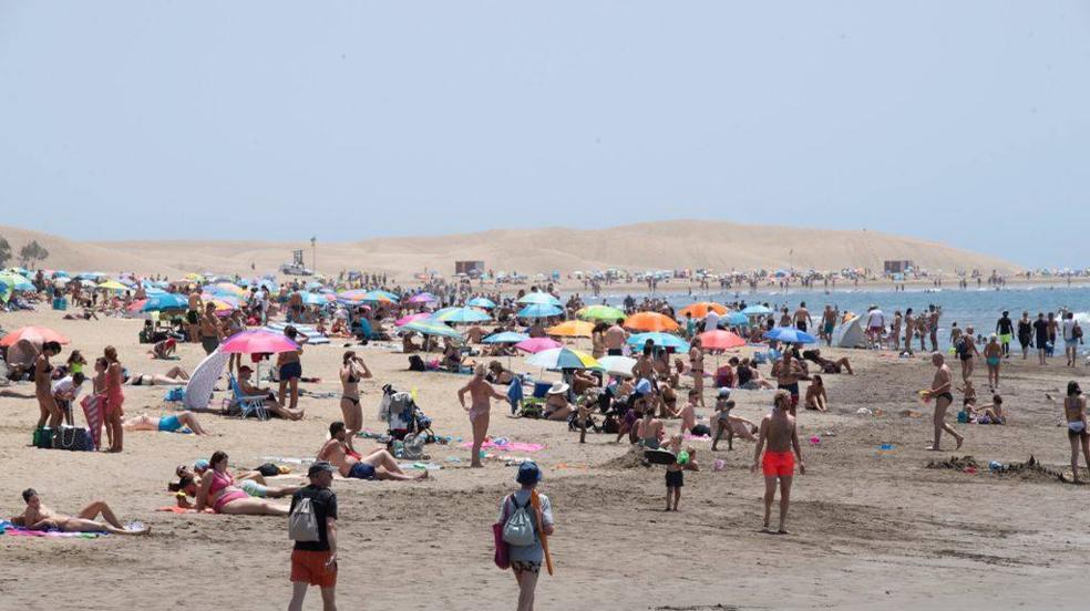 Lleno en las playas de Gran Canaria