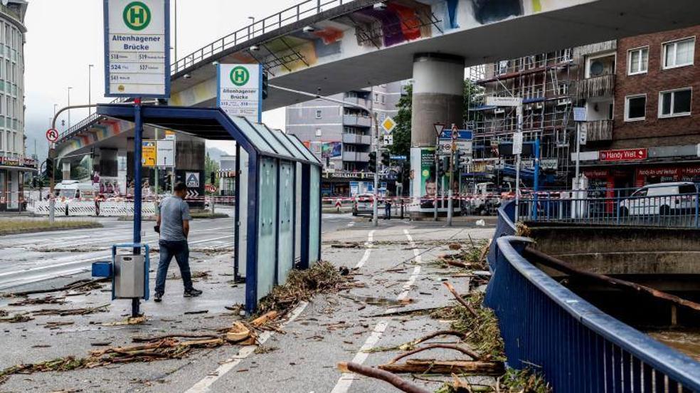 El temporal de Alemania, en imágenes