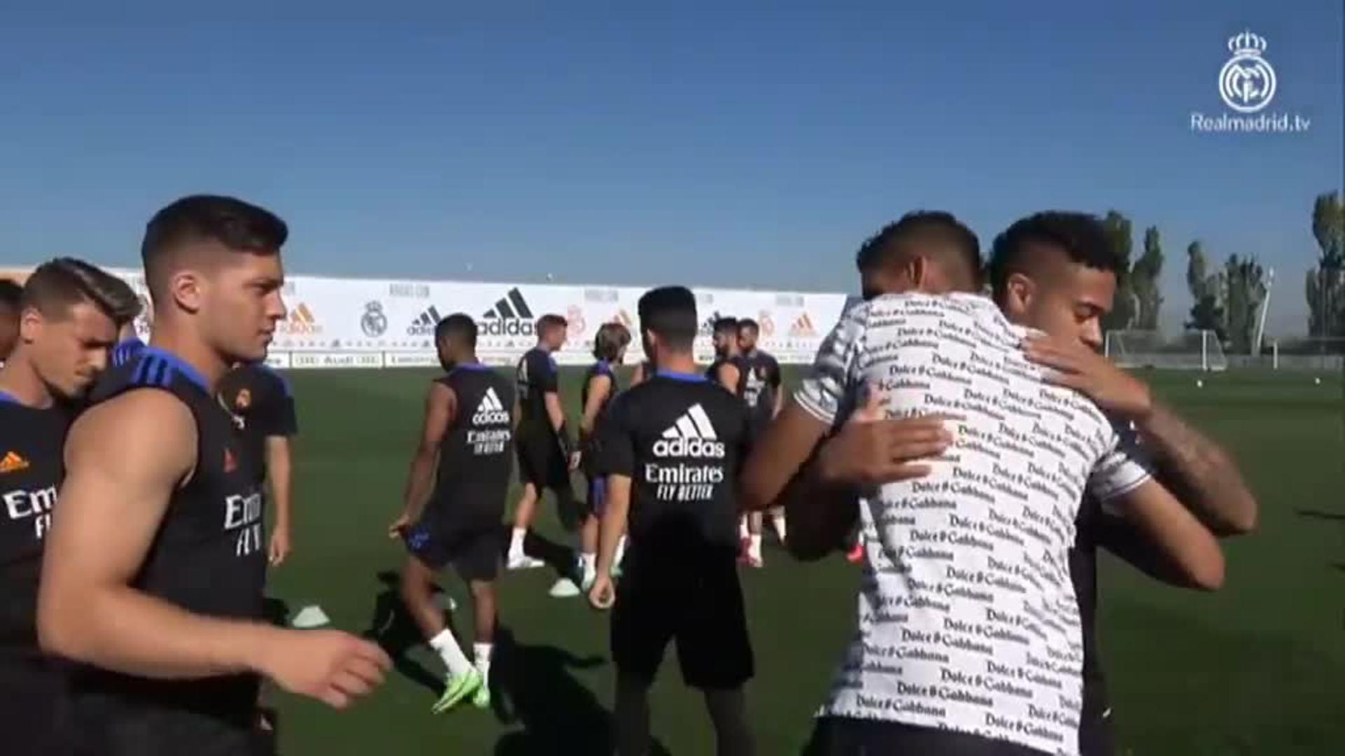 Karim Benzemá regresa al trabajo con unos días de retraso tras su positivo en Covid