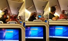 Se lían a puñetazos en un avión por culpa de un asiento reclinado