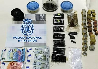 Detenido por tráfico de drogas en la zona de los Majuelos