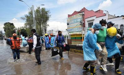 Mueren 17 pacientes al inundarse por la lluvia un hospital en México