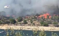 Detenida una mujer por un incendio en julio en un pantano en Madrid