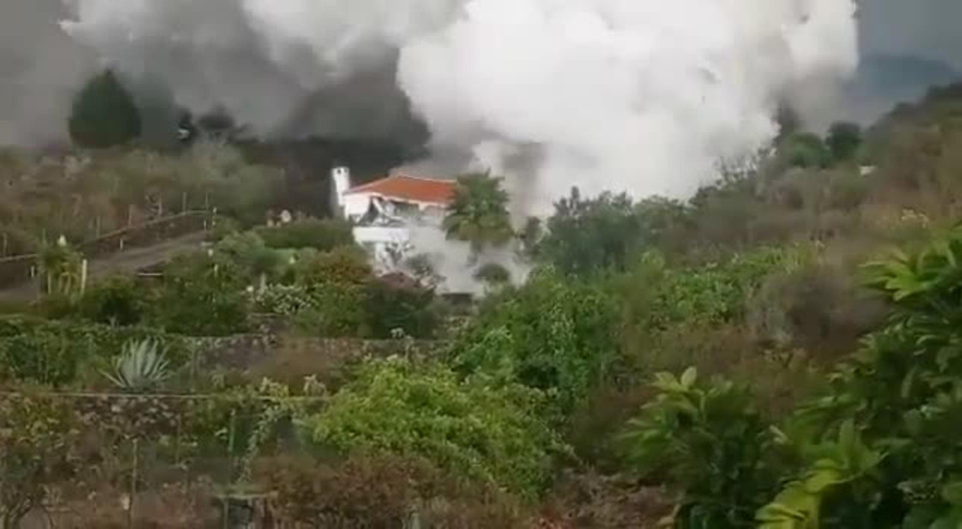 Imagen de cómo se quema una casa