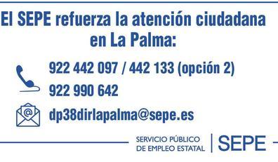 El SEPE refuerza la atención ciudadana en La Palma ante la emergencia volcánica