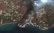El delta de lava del volcán corre el riesgo de fracturarse y provocar un fuerte oleaje