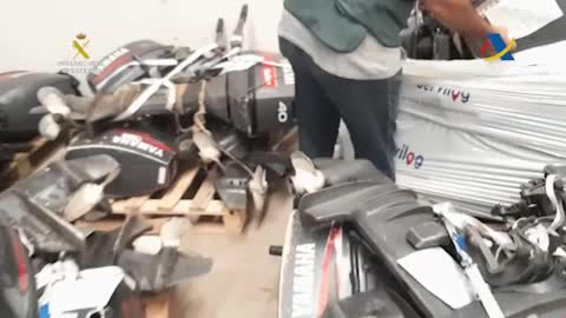 Detenidos para robar motores para pateras