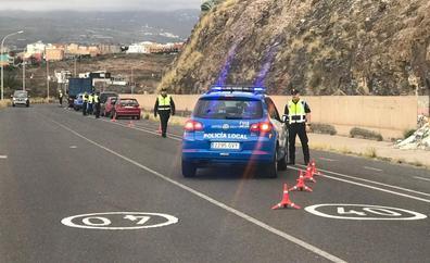 La Policía Local de Telde instruye 34 diligencias en una campaña de prevención en las carreteras