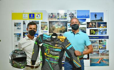 Rogelio Peñate con Gran Canaria Isla Europea del Deporte