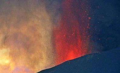 La lava, en fase de estabilidad y lentitud