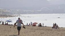 Calima, calor y playas llenas en pleno octubre