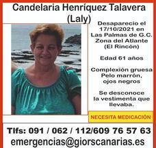 Localizan el cuerpo sin vida de Candelaria Henríquez Talavera