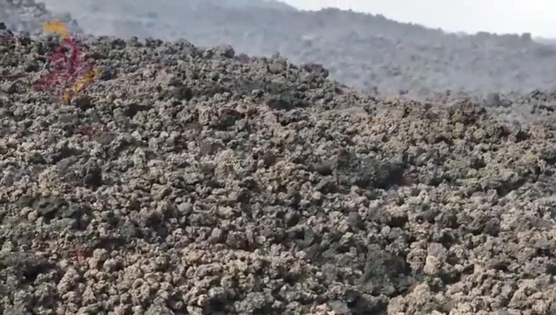 La coladas de lava siguen imparables su curso avanzando sobre la LP-2