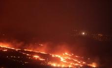 «La erupción es moderada»