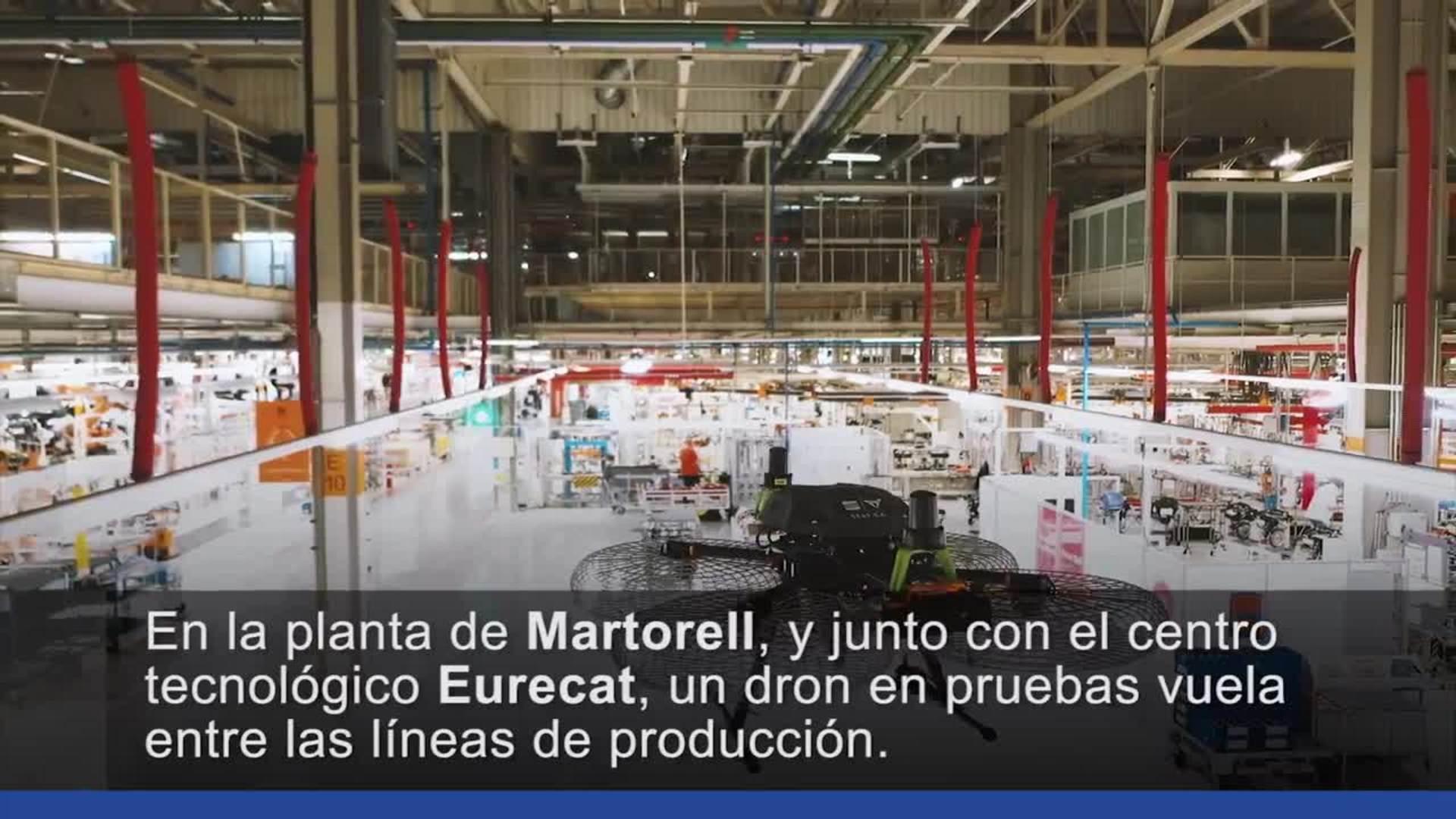Un drone en la fábrica Seat del futuro
