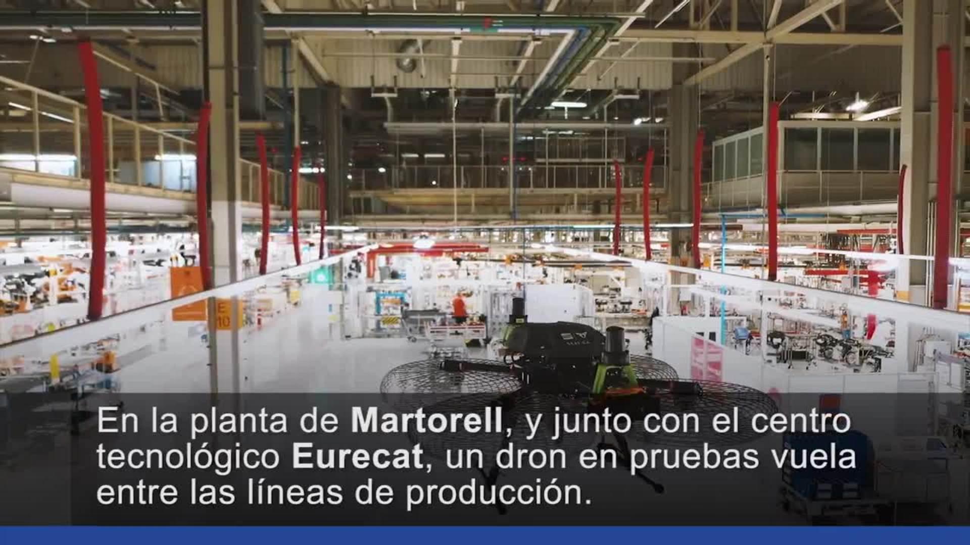 La fábrica de Seat explora las posibilidades de los drones para optimizar el suministro logístico