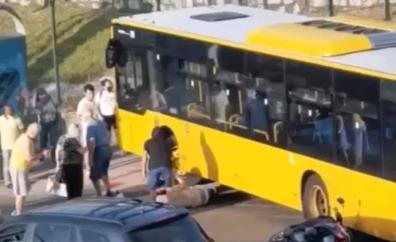 Detienen al chófer de Guaguas Municipales que atropelló a un motorista tras una discusión