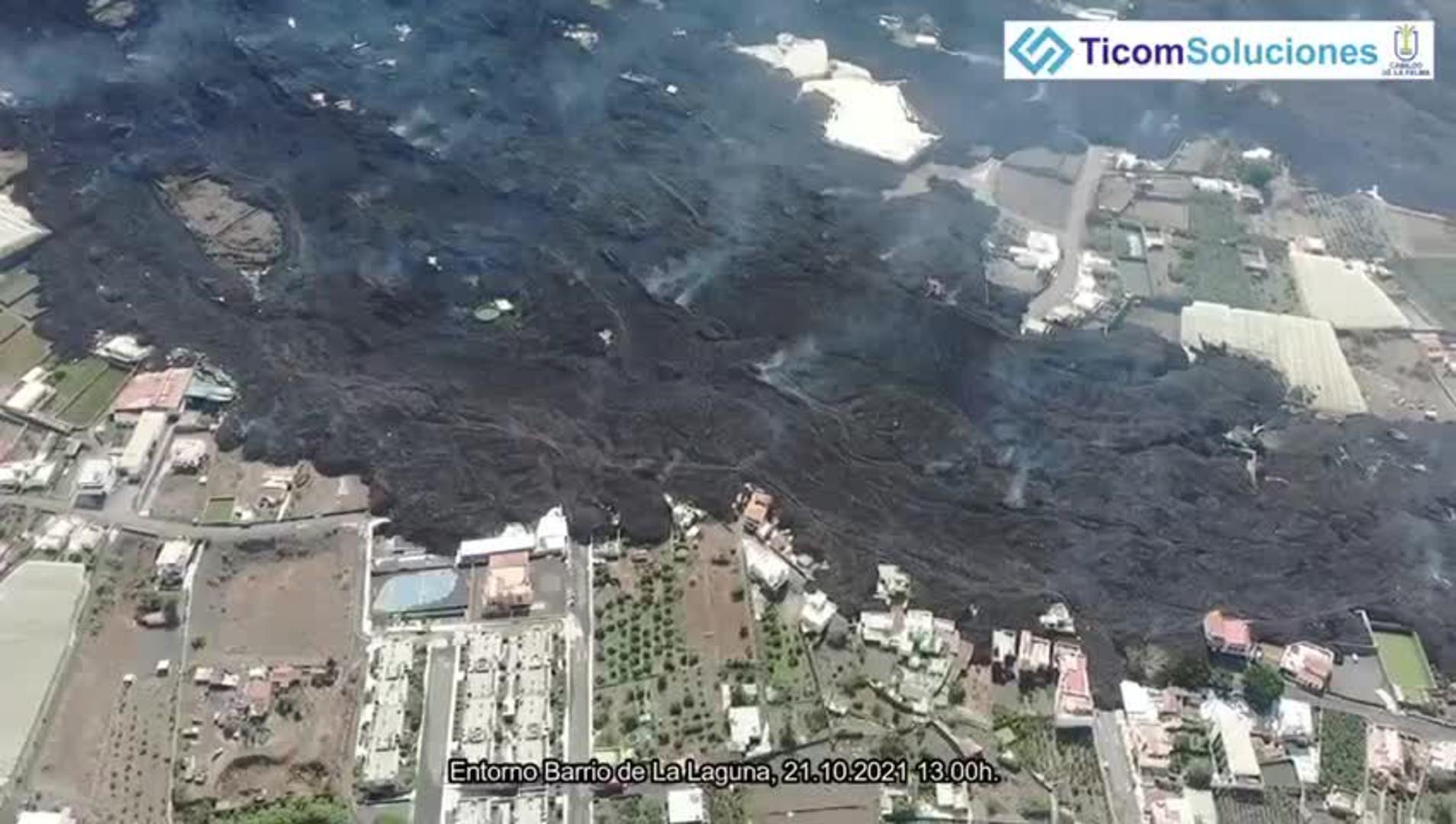 Volcán de La Palma en el entorno del Barrio de La Laguna