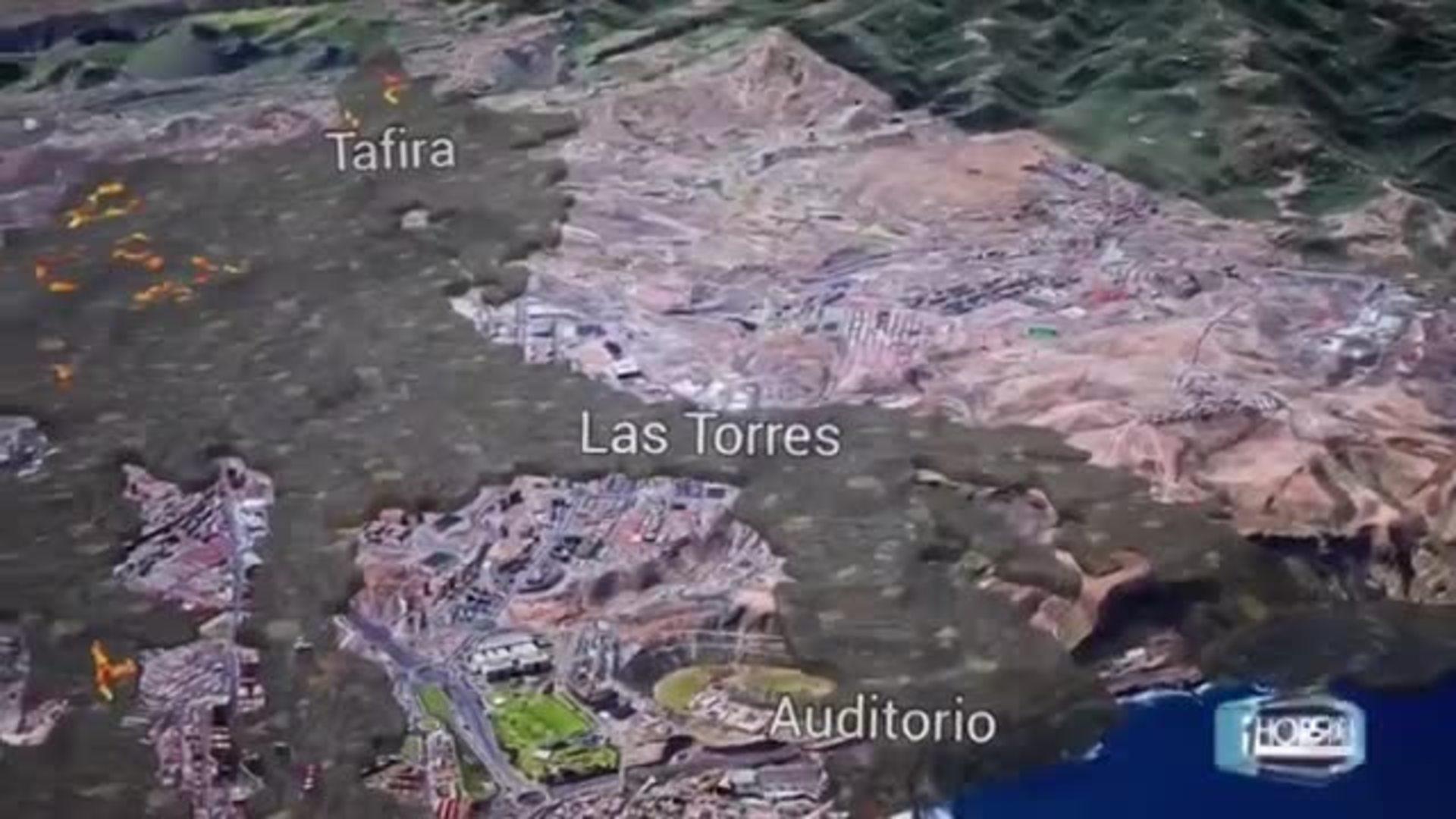 La lava de La Palma en la capital grancanaria mediante realidad aumentada