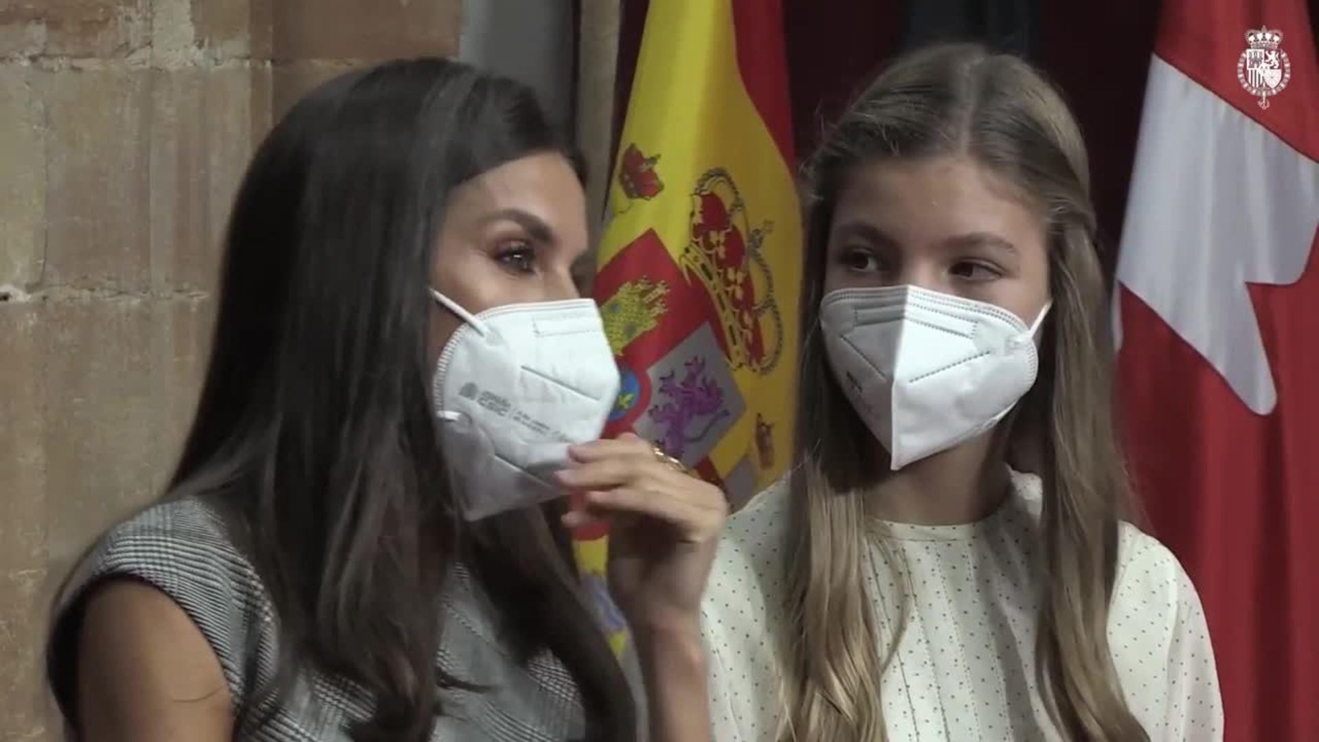 Leonor y Sofía eclipsan a la Reina Letizia, más sobria que nunca
