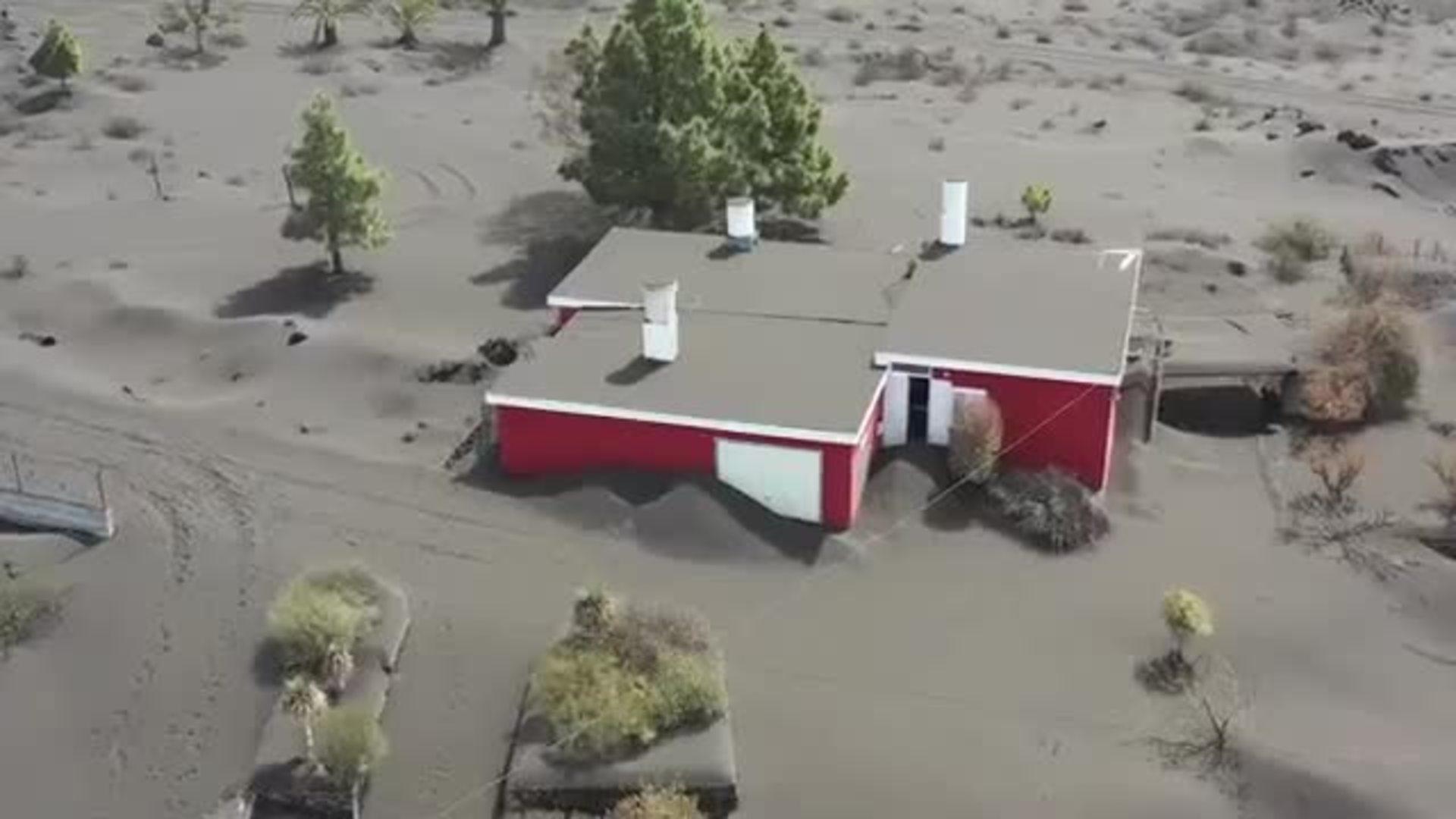 Así se ven lo pueblos cercanos al volcán, sumergidos en cenizas